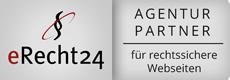 Wir sind Agenturpartner von erecht24 für rechtssichere Webseiten