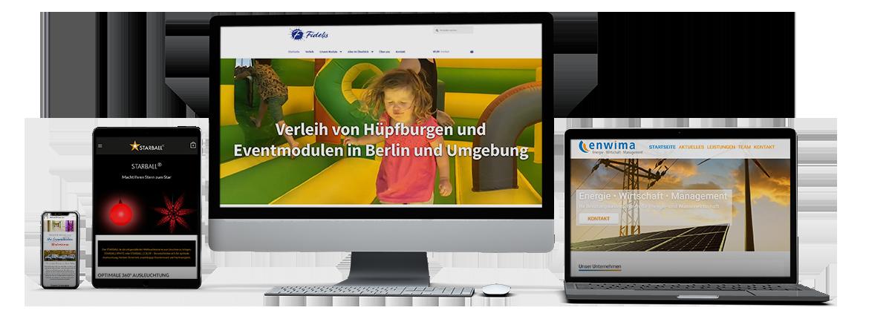 Inviduelles Webdesign und online Werbung für alle Geräte