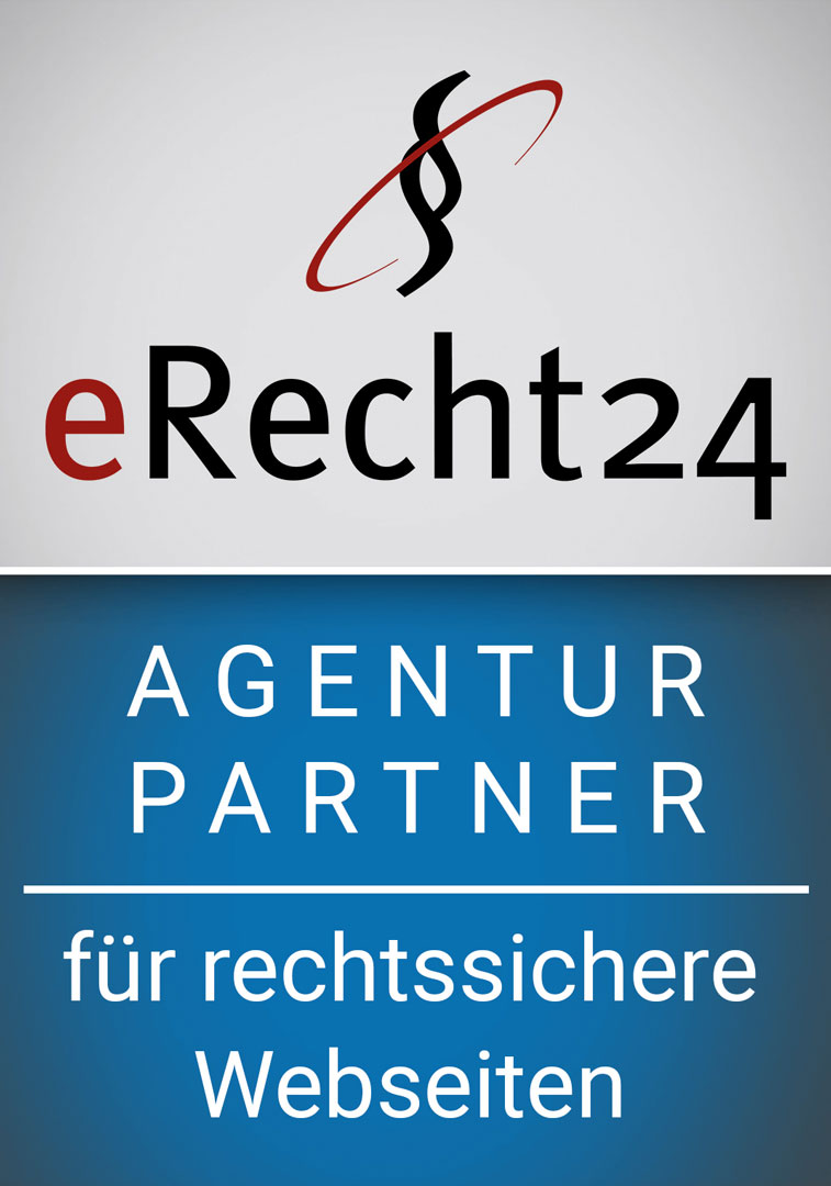 Agentur Partner von eRecht24 für rechtssichere Webseiten